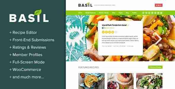 Web de recetas - Basil