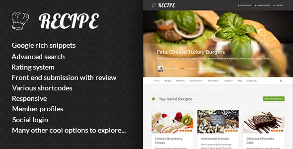 Web de recetas - Recipe
