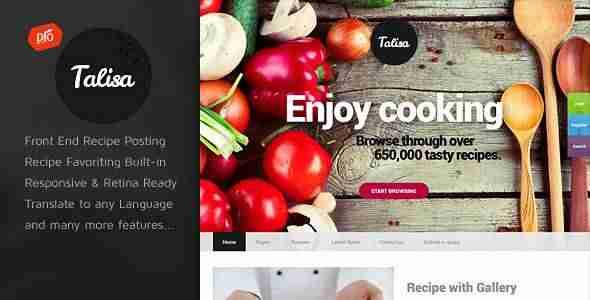 Web de recetas - Talisa