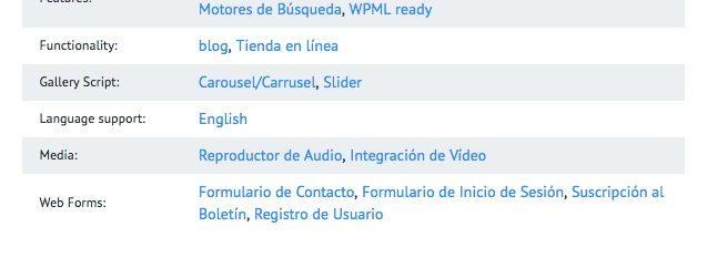plantillas de WordPress en español