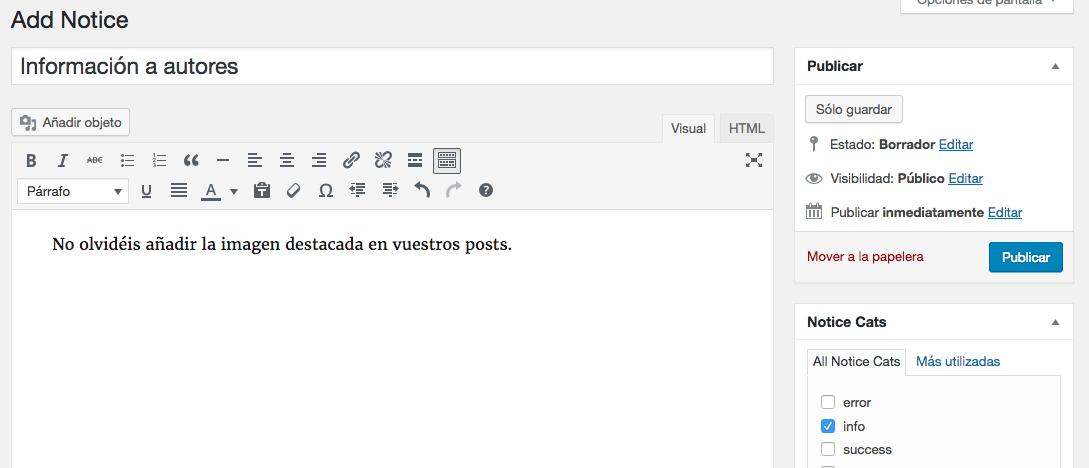 notificaciones personalizadas