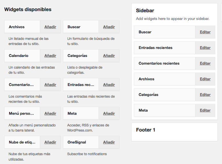 características de WordPress