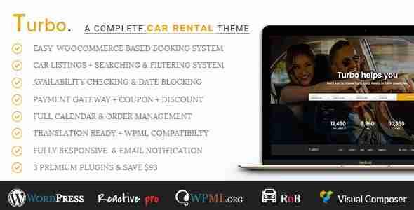 Plantillas de WordPress para un alquiler de coches