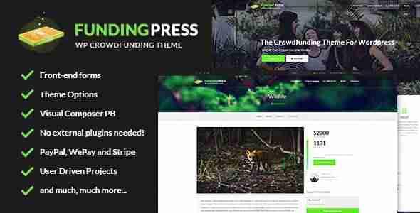 plantillas de WordPress para una plataforma de crowdfunding