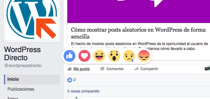 reacciones como las de Facebook