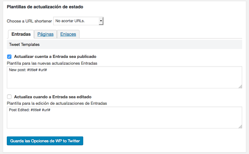 WordPress a Twitter