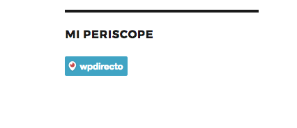 Periscope en WordPress