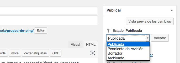 archivar posts