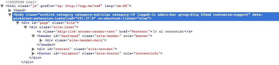 personalizar cada categoría