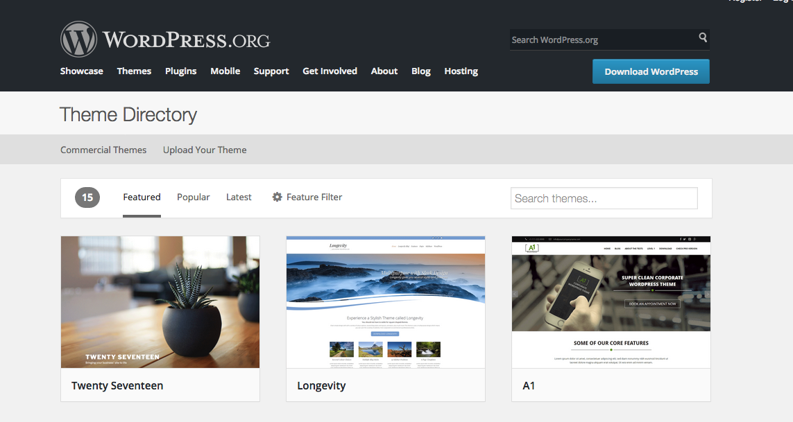 temas de WordPress