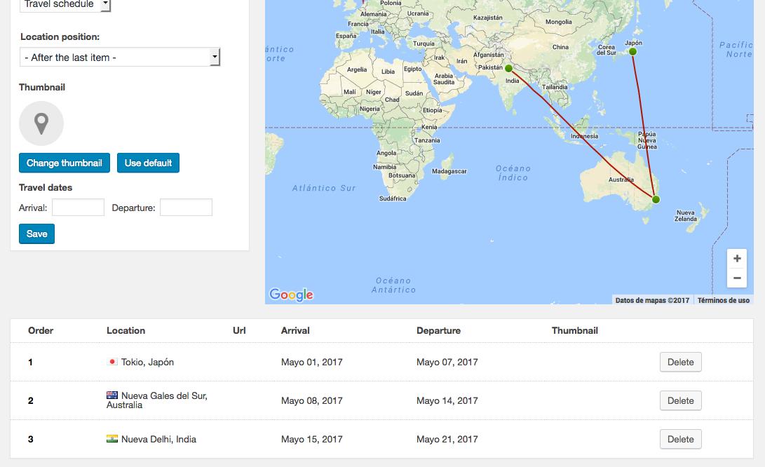 mapa de tus viajes