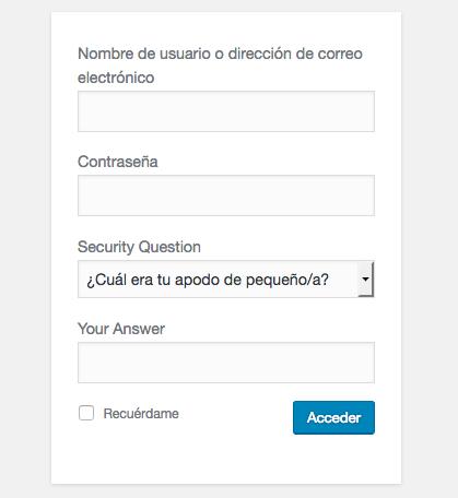 preguntas de seguridad