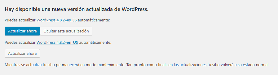 WordPress 4.8.2