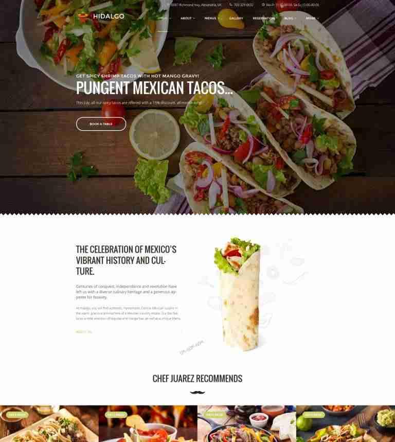 Plantillas para un restaurante mexicano