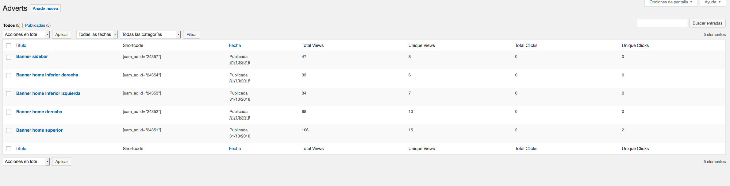 Cómo gestionar banners en WordPress