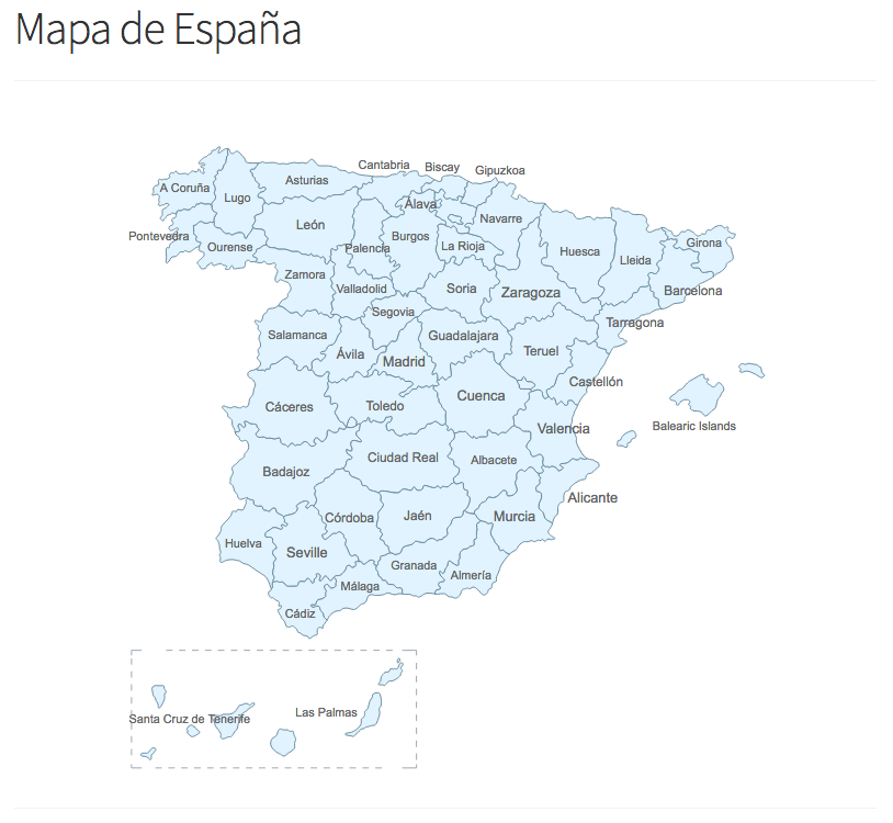 Mapa Provincias España Interactivo.Como Agregar Un Mapa De Espana Interactivo En Wordpress
